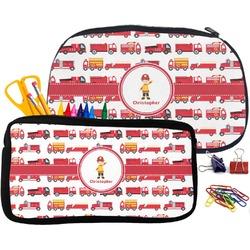 Firetrucks Pencil / School Supplies Bag (Personalized)
