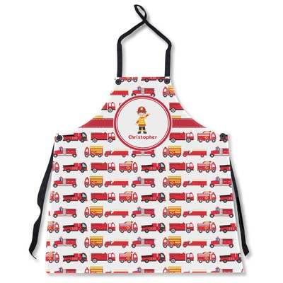 Firetrucks Apron Without Pockets w/ Name or Text