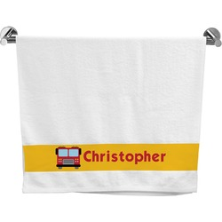 Firetrucks Bath Towel (Personalized)