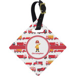 Firetrucks Diamond Luggage Tag (Personalized)