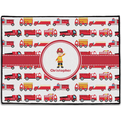 Firetrucks Door Mat (Personalized)