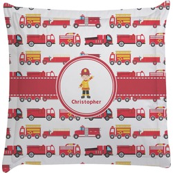 Firetrucks Euro Sham Pillow Case (Personalized)
