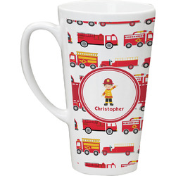 Firetrucks Latte Mug (Personalized)