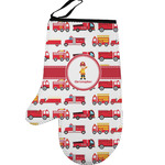 Firetrucks Left Oven Mitt (Personalized)