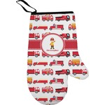 Firetrucks Right Oven Mitt (Personalized)