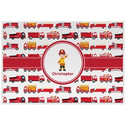 Firetrucks Laminated Placemat w/ Name or Text