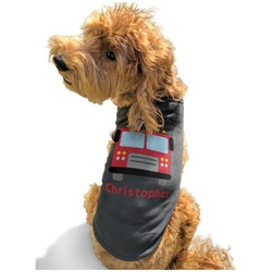 Firetrucks Black Pet Shirt - XL (Personalized)