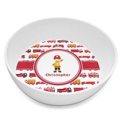 Firetrucks Melamine Bowl 8oz (Personalized)