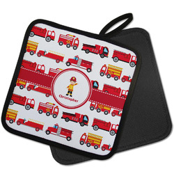 Firetrucks Pot Holder w/ Name or Text