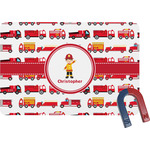 Firetrucks Rectangular Fridge Magnet (Personalized)