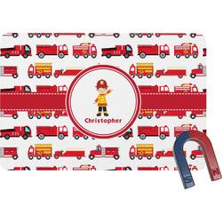 Firetrucks Rectangular Fridge Magnet (Personalized)