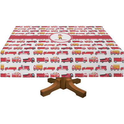 "Firetrucks Tablecloth - 58""x102"" (Personalized)"