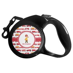Firetrucks Retractable Dog Leash - Multiple Sizes (Personalized)