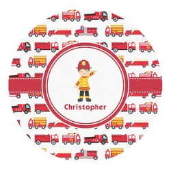 Firetrucks Round Decal (Personalized)