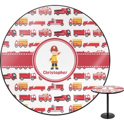 "Firetrucks Round Table - 30"" (Personalized)"