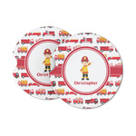 Firetrucks Sandstone Car Coasters (Personalized)