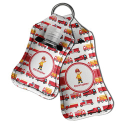 Firetrucks Hand Sanitizer & Keychain Holder (Personalized)