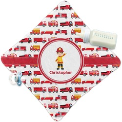 Firetrucks Security Blanket (Personalized)