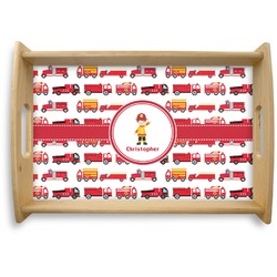 Firetrucks Natural Wooden Tray (Personalized)