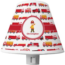 Firetrucks Shade Night Light (Personalized)