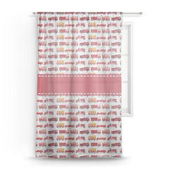 Firetrucks Sheer Curtains (Personalized)