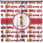Firetrucks Shower Curtain (Personalized)
