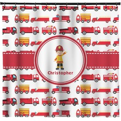 Firetrucks Shower Curtain (Personalized)