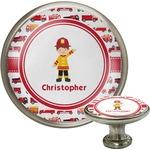 Firetrucks Cabinet Knob (Silver) (Personalized)