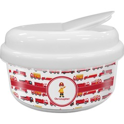 Firetrucks Snack Container (Personalized)