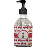 Firetrucks Soap/Lotion Dispenser (Glass) (Personalized)
