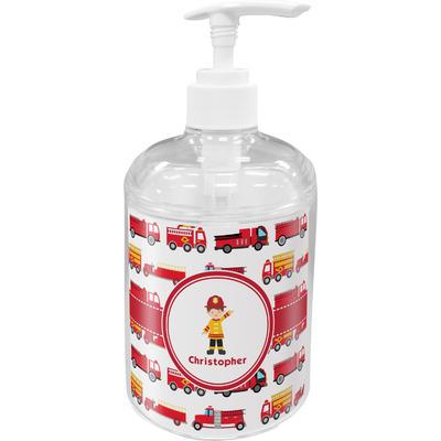 Firetrucks Acrylic Soap & Lotion Bottle (Personalized)