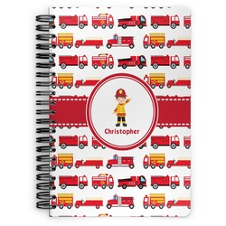 Firetrucks Spiral Bound Notebook (Personalized)