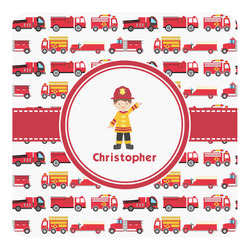 Firetrucks Square Decal - Medium (Personalized)