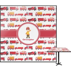 Firetrucks Square Table Top (Personalized)