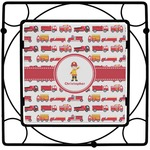 Firetrucks Square Trivet (Personalized)