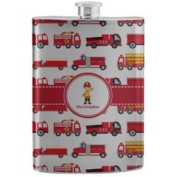 Firetrucks Stainless Steel Flask (Personalized)