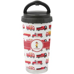 Firetrucks Stainless Steel Travel Mug (Personalized)