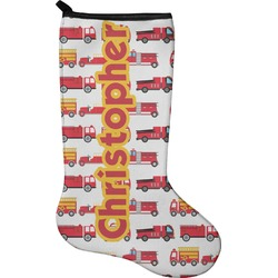 Firetrucks Christmas Stocking - Neoprene (Personalized)