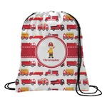 Firetrucks Drawstring Backpack (Personalized)
