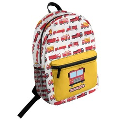 Firetrucks Student Backpack (Personalized)
