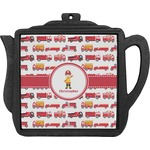 Firetrucks Teapot Trivet (Personalized)