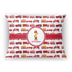 Firetrucks Rectangular Throw Pillow Case (Personalized)