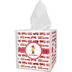 Firetrucks Tissue Box Cover (Personalized)