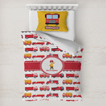 Firetrucks Toddler Bedding w/ Name or Text