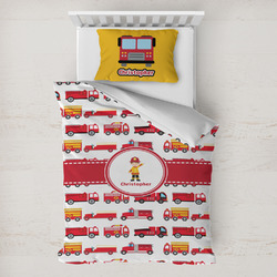 Firetrucks Toddler Bedding w/ Name or Text