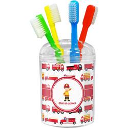 Firetrucks Toothbrush Holder (Personalized)