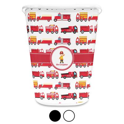 Firetrucks Waste Basket (Personalized)