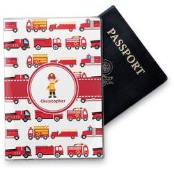 Firetrucks Vinyl Passport Holder (Personalized)