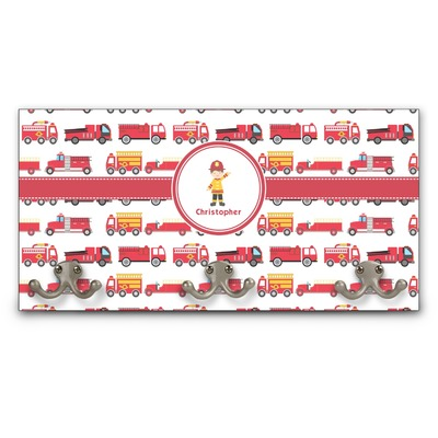 Firetrucks Wall Mounted Coat Rack (Personalized)