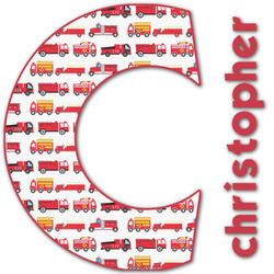 Firetrucks Name & Initial Decal - Custom Sized (Personalized)